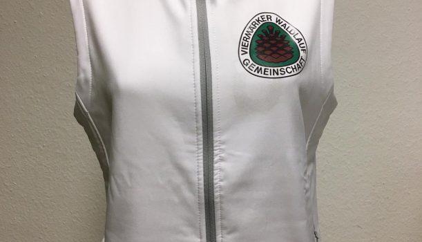 Laufbekleidung mit Viermärker Logo