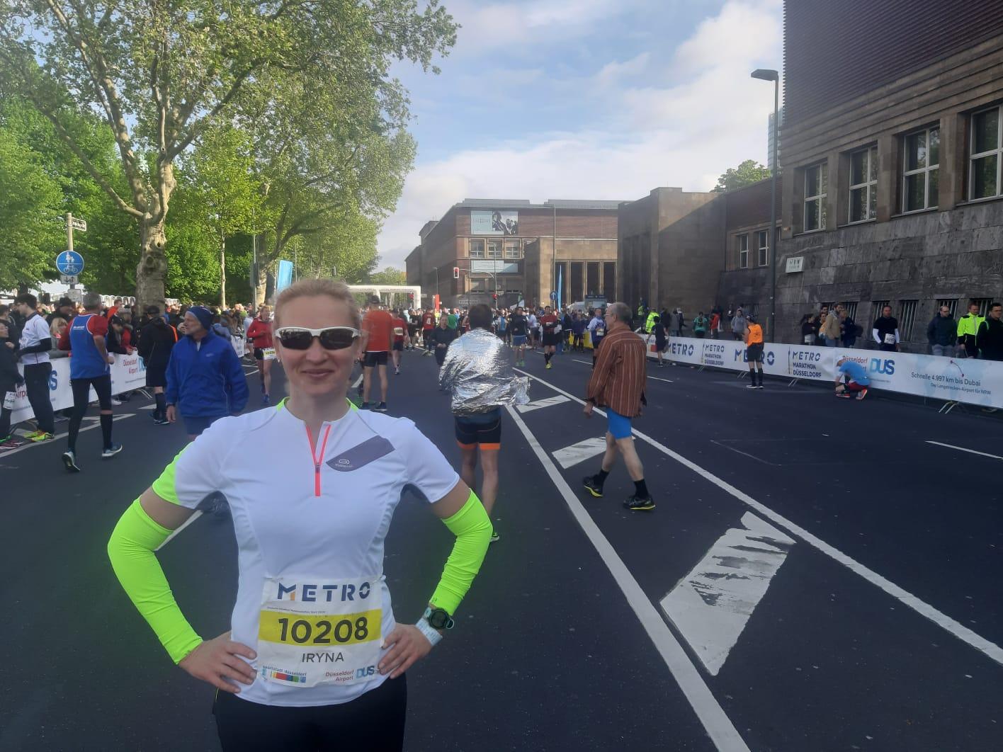 Iryna Detering bei den Deutschen Marathonmeisterschaften in Düsseldorf