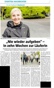 Pressetext RN vom 14.05.2019: In 10 Wochen zur Läuferin