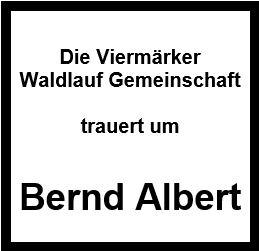 Die Viermärker Waldlauf Gemeinschaft trauert um Bernd Albert