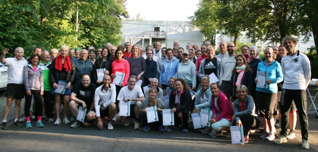 Die Laufeinsteiger 2019 nach erfolgreichem Abschlusslauf