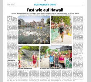 Bericht über den PSD Bank Triatlon der Dortmunder TriGeckos am Phönixsee
